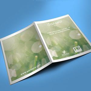 Carpeta con papel ecológico